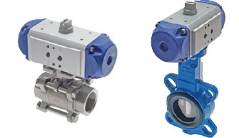pneumatically actuated ball valves and butterfly valves